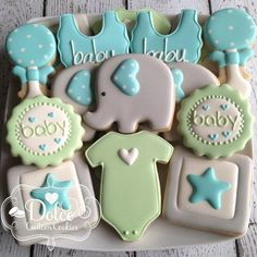 "320 Likes, 3 Comments - Christy (@dolcecustomcookies) on Instagram: ""#babyshowercookies #elephantbabyshower #decoratedcookies #decoratedsugarcookies #sugarcookies…"""