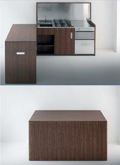 A kitchen that folds into a box: Targa Italia box