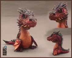 Smaug Sculpture FANART by buzhandmade