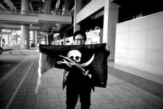 [Occupied] Kansai Airport, OSAKA, JAPAN    by Cap'n @dearkingpin    Make your own Flag, visit  http://thepirateflag.tumblr.com