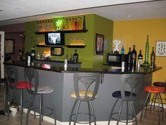 Lime basement bar