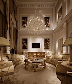 46 Luxury and Elegant Living Room Design - 2020 Home design Luxury Home Decor, Luxury Interior Design, Luxury Homes, Modern Interior, Mansion Interior, Living Room Interior, Interior Livingroom, Luxury Living Rooms, Living Spaces