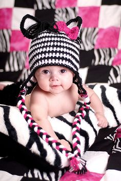 Zabrina The Zebra crochet hat by Boomer Beanies