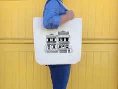 Vintage Australian House Screen printed tote bag
