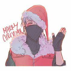 Merry Christmas from Kakashi Naruto Kakashi, Anime Naruto, Gaara, Comic Naruto, Naruto Fan Art, Naruto Cute, Hinata, Boruto Characters, Otaku