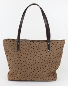 Ginger Linen Zip Tote - Screen printed and hand sewn by designer Bethany Nelson!