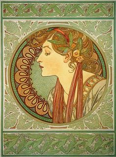 Alphonse Mucha Ivy and Laurel, 1901