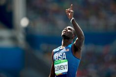 He's done it. Kerron Clement adds Olympic #Gold to his 2 individual world titles.   #Athletics #Rio2016 #Olympics