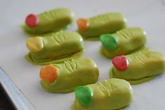 Hilarious; ogre toes! Nutter Butters could be used in place of circus peanuts.