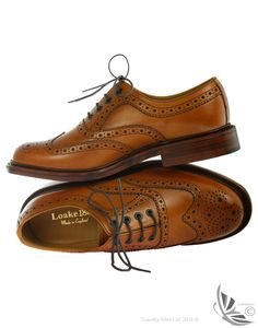 Loake Men's Ashby Brogue shoes - Tan