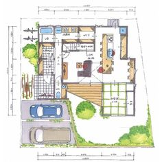 . 【ボツプラン102】 収納は十分確保されてるし、窓の軒・庇は太陽の光を十分考慮した上で風通しも各部屋で考慮されていていい感じの間取りやね。ワークスペースが1階2階にあって、家中に居場所があるのもいいと思う。 . この家に住みたいです(^ ^) . . #collabohouse #コラボハウス #間取り #間取り図 #設計図 #設計士 #設計士とつくる家 #住宅 #住宅設計 #自由設計 #住宅間取り #住宅外観 #住宅デザイン #デザイン住宅 #注文住宅 #新築 #新築一戸建て #家づくり #myhome #マイホーム #書斎 #ユーティリティルーム #ユーティリティスペース #ボツプラン Japanese House, House Layouts, Smart Home, House Plans, Floor Plans, House Design, Flooring, How To Plan, Interior Design