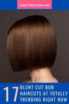 This is it ladies! The cutest blunt cut bob haircuts are right here. Click here to see them before your next haircut! (Photo credit IG @demetriusschool_eng) Blunt Bob Haircuts, Blunt Cuts, Latest Hairstyles, Face Shapes, Short Hair Cuts, Photo Credit, Lady, Hair Styles, Cute