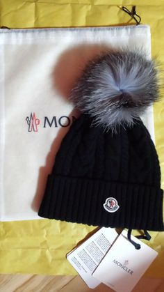 7cd6828a NEW Womens hat Moncler cable knit beanie with Genuine silver Fox Fur Pom  #fashion #
