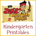 Jakes & the Neverland Pirate kindergarten printables