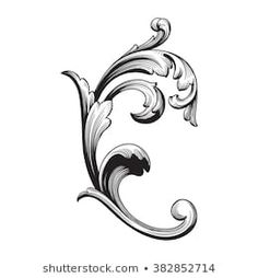 Similar Stock Images, Photos & Vectors Baroque Frame, Motif Baroque, Floral Retro, Gravure Metal, Molduras Vintage, Filigree Tattoo, Ornament Drawing, Frame Ornament, Filigranes Design