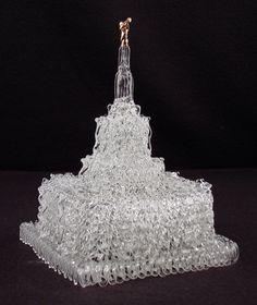 Idaho Falls ID Glass LDS Temple Cake Topper