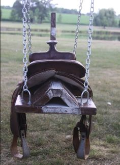 Recycled saddle swing