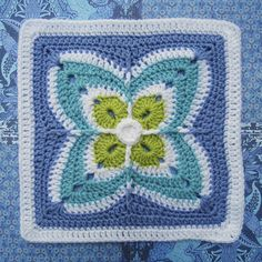 Ravelry: Firenze Afghan Block by Julie Yeager
