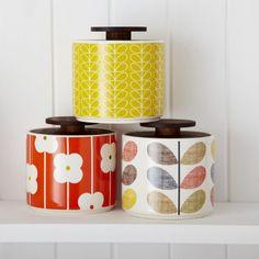 Pots en céramique - Orla Kiely vintage rétro