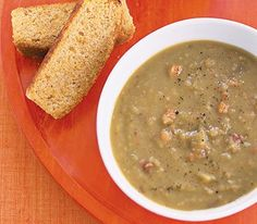 Slow-Cooker Smoky Pea Soup...probably use pinto beans and red peppers