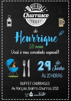 Convite Churrasco Digital Red Party, Chalkboard, Improve Yourself, Online Invitations, Banquettes, Invitations, Slate, Chalk Board, Chalkboards
