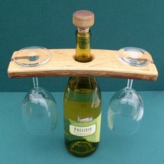 Wine Bottle and Wine Glass Display or Server / Table setting / Center Piece