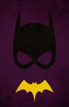 Batgirl /// Superhero art by Pandreaa Comic Books Art, Comic Art, Book Art, Superhero Poster, Superhero Logos, Superhero Series, Batwoman, Nightwing, Minimalist Poster