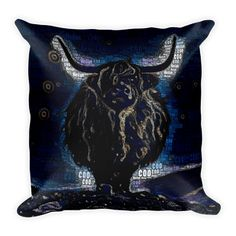 Heilan' Coo | Word Art | Square Pillow