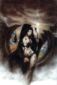Luis Royo - fantasy art - I have this I've already, need to get it framed tho