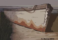 Old Boat On The Shore Photograph by Allison Murray Old Boats, Richmond Hill, Framed Prints, Canvas Prints, Digital Art, Photograph, Abstract, Artwork, Artist