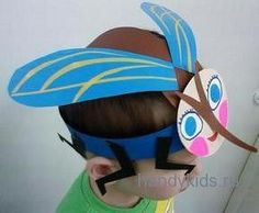 Midge mask Insect Crafts, Bug Crafts, Preschool Crafts, Crafts For Kids, Printable Halloween Masks, Puppets For Kids, Activities For Boys, Crazy Hats, Mothers Day Crafts