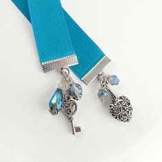 Ribbon Bookmark  Key to My Heart  Love Story by bohemians on Etsy, $12.00