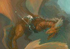 Nori the Dragon Warrior - ArtWar by Lumaris.deviantart.com on @DeviantArt