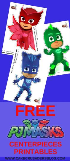 FREE PJ Mask DIY party printables