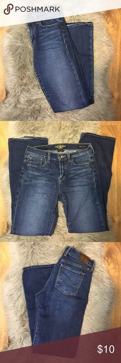 Lucky brand Sofia boot jeans Gently worn lucky brand size 28 jeans. They have wide legs so are to big for me. No stains or tears. Offers welcomed Lucky Brand Jeans Boot Cut