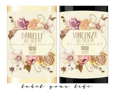 Wine Bridesmaid Proposal Champagne Bridesmaid by LabelYourLife