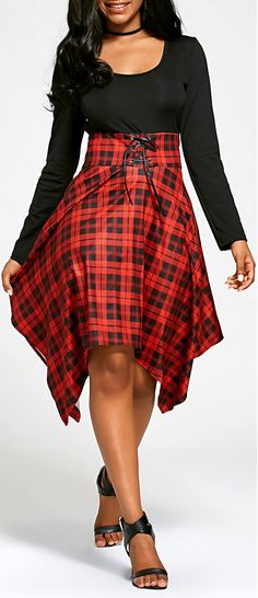 Empire Waisted Long Sleeve Handkerchief Dress 52 Stunning Casual Style Looks To Inspire Every Woman – Empire Waisted Long Sleeve Handkerchief Dress Source Curvy Fashion, Plus Size Fashion, Kinds Of Clothes, Clothes For Women, Classy Outfits, Classy Wear, Handkerchief Dress, African Print Fashion, Thing 1