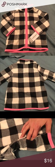 NWT!!!! Carter's full zip fleece jacket NWT. Size 12 months. Pattern is no longer available in stores or online Carter's Jackets & Coats