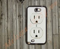 Samsung Galaxy Note 2 Case,Samsung Note 2 Case,Samsung S3 Case,Custom Phone Case,Cell Phone Case for Samsung Case - Electrical Outlet. $12.99, via Etsy.