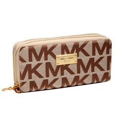Michael Kors Jet Set Continental Logo Large Beige Wallets.More than 60% Off, I enjoy these bags.It's pretty cool (: JUST CLICK IMAGE~ | See more about fashion icons, kors jet set and michael kors jet.