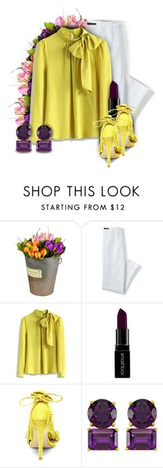 """Code Yellow"" by lolaparis7 ❤ liked on Polyvore featuring Lands' End, Chicwish, Smashbox and Steve Madden"