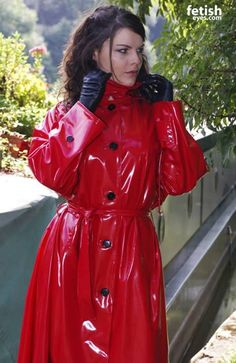 red pvc hooded raincoat mac s u sbr pinterest hooded raincoat red and raincoat. Black Bedroom Furniture Sets. Home Design Ideas