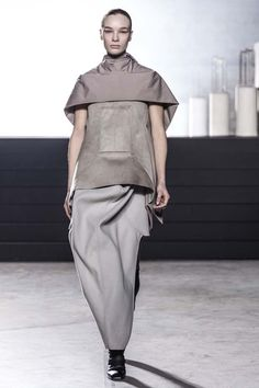 Rick Owens F/W 15: A Frank Lloyd Wright-Influenced Collection via @WhoWhatWear