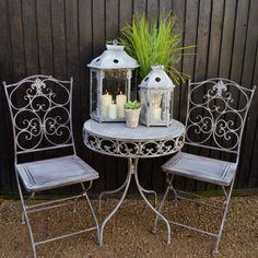 Are you interested in our metal garden bistro set? With our metal garden table a… Are you interested in our metal garden bistro set? With our metal garden table and chairs you need look no further. Metal Garden Table, Garden Table And Chairs, Outdoor Rooms, Outdoor Living, Outdoor Decor, Painted Front Porches, Patio Furniture Sets, Metal Garden Furniture, Furniture Ideas