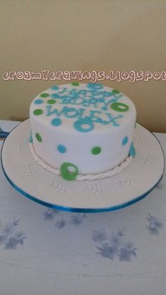 creamy cravings: Very Simple & Elegant Birthday Cake