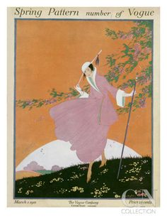 Vogue Cover - March 1916 Poster Print by Helen Dryden at the Condé Nast Collection