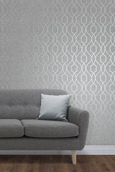 Albany contemporary wallpaper design featuring a trellis pattern with metallic d . Albany contemporary wallpaper design featuring a trellis pattern with metallic detail Design Living Room Wallpaper, Hallway Wallpaper, Modern Wallpaper Designs, Contemporary Wallpaper, Wall Wallpaper, Living Room Designs, Silver Wallpaper, Wallpaper Direct, Contemporary Design