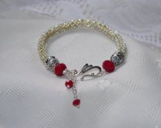 Viking knit bracelet by bonnieswireworks on Etsy