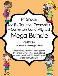 This is a mega bundle!  It contains a collection of math journal prompts for first grade that coordinate to the Math Investigations program - units 1 through 9!!The prompts address newly introduced skills from the unit as well as review skills that have been previously taught.