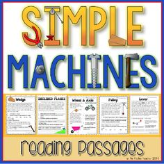 Cross Curricular reading passaged! Simple Machines Reading Passages with answer keys included.